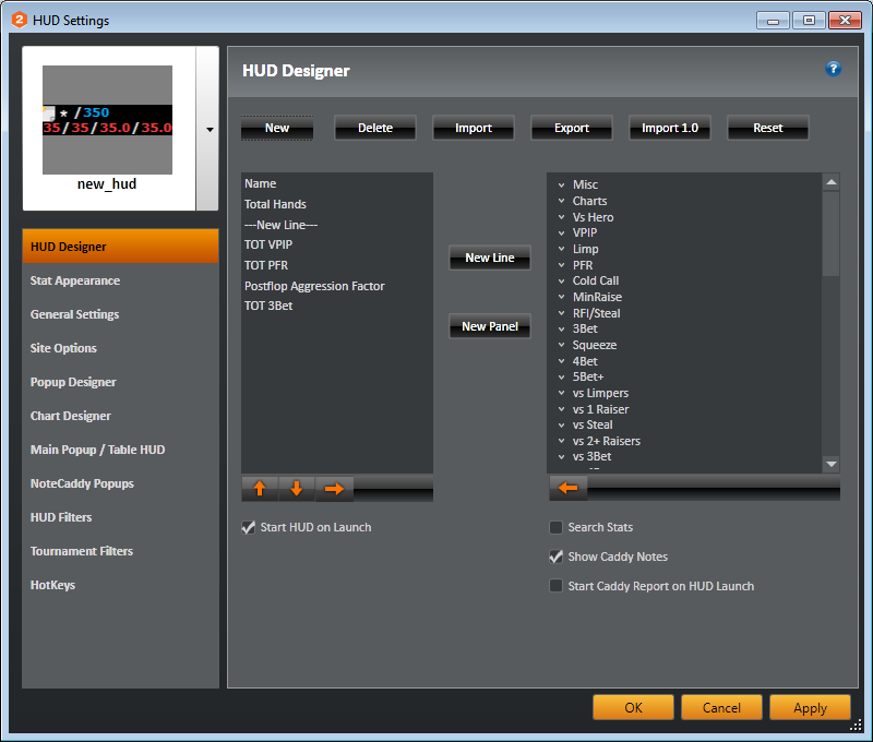 Holdem manager 2 pop up designer